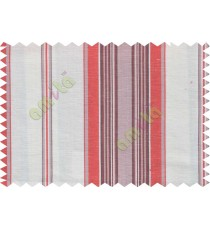 White brick red stripes main cotton curtain designs